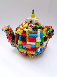 stone homes, art crafts, finn stone, teapots, toy, lego teapot, legos, stone sculpture, kid