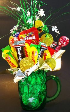 St. Patty's Day candy bouquet