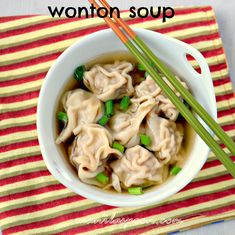 Manila Spoon: Wonton Soup - The weather may be getting a little warmer but you know winter isn't over yet so fight the cold with a hearty bowl of this delicious WONTON SOUP! Add your favorite veggies for a fuller meal! ♥