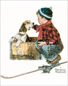 Dog for sale - Norman Rockwell