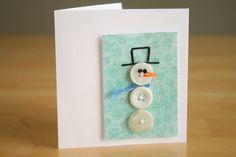 cute snowman button