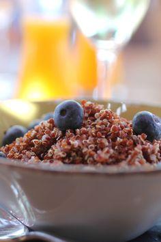 ::quinoa + blueberries::
