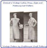 Vintage Crochet Women's Dress Pattern