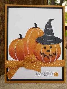 Halloween Pumpkins   By:Joan Robertson, Independent Stamp' Up Demonstrator