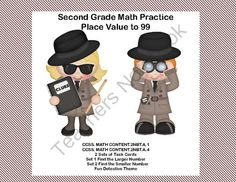 Second Grade Math Practice Task Cards Place Value to 99- 2 CCSS from Mrs. Mc's Shop on TeachersNotebook.com -  (17 pages)  - This products offers great practice in place value to 99. Your students are asked to compare numbers in a variety of forms.Aligned with: CCSS. MATH CONTENT.2NBT.A.1 CCSS. MATH CONTENT.2NBT.A.4