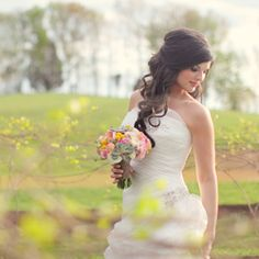 hair and makeup! A lovely bride dappled with tiny spring foilage from a Tennessee Vineyard.