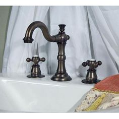 Roseanna Widespread Lavatory Faucet with Metal Cross Handles
