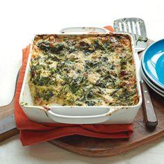 Creamy Spinach and Broccoli Lasagna