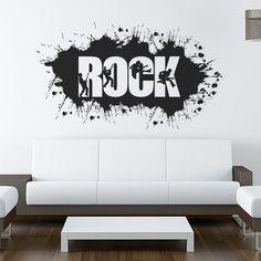 Rock em vinil autocolante decorativo para decoração em paredes