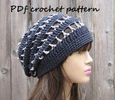 Crochet Pattern - Slouchy Spring Hat, Crochet Pattern