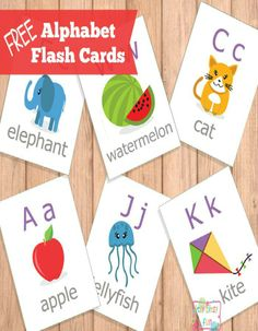 Free Printable Alphabet Flash Cards - Learning the ABC's