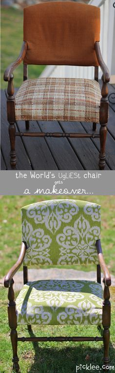 Great D.I.Y, BEFORE & AFTER Chair Makeover!
