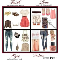 highschool outfits 5-8, created by tayrobison on Polyvore