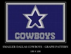 Smaller Dallas Cowboys - GRAPH PATTERN Yarn Hookers on ZIBBIT by YarnHookers for $5.00    I have been featured on Zibbits Pinterest Page!