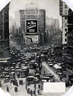 Times Square from New York Times Building., 1922.