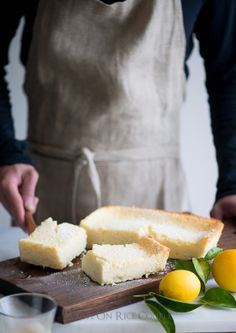 Meyer Lemon Magic Custard Cake for Breakfast