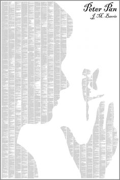 full novel displayed as a silhouette poster // Peter Pan