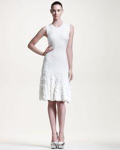 Sleeveless Pucker-Knit Dress by Alexander McQueen at Bergdorf Goodman.