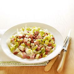 Hearty Ham Salad | In lg. bowl, toss beans*; 2 hearts romaine lettuce ...