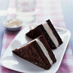 Brownie Ice-Cream Sandwiches