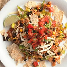 Serve this Vegetarian Taco Salad on your next Mexican night!  Zest up this meal with Ortega beans and chilis.  www.ortega.com