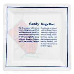 Fish's Eddy 'Sandy Kugelfax' bagel plate