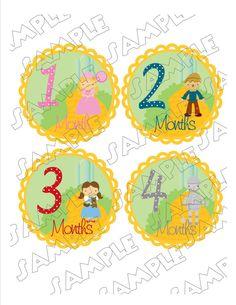 Monthly Onesie Stickers Wizard of Oz