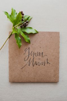 beautiful #calligraphy by http://www.meagantidwell.com, Photography by christinaszczupak.com  Read more - http://www.stylemepretty.com/2013/09/05/long-island-city-wedding-from-christina-szczupak/