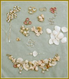 Shells & pearls bracelet  #handmade #jewelry #DIY #craft