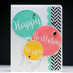 Happy Birthday Balloons - Scrapbook.com- sequined party balloons