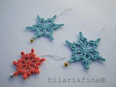 It's cold ! Crocheting Snowflakes ! ❥ 4U // hf crochet snowflak
