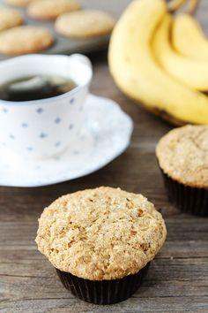 Whole Wheat Banana Muffin Recipe on twopeasandtheirpod.com