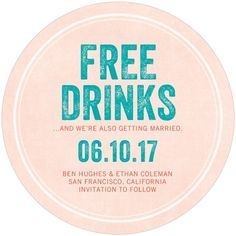 Free Drinks - Save t