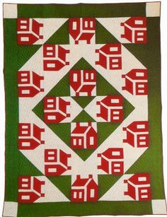 1930s School House quilt posted by Pine Ridge Quilter blog