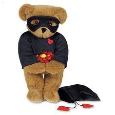 "15"" Love Bandit Bear from Vermont Teddy Bear. $69.99 #ValentinesDay #Gift #TeddyBear"