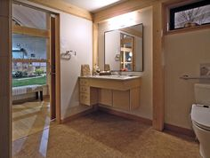The bathroom; accessibility, space & Universal Design, even in a pre-fab