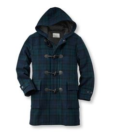 Heritage Wool Duffel Coat, Blackwatch Plaid
