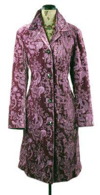 plum velvet coat
