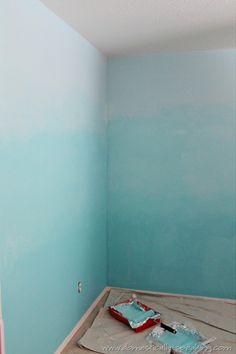 decor, mermaid room, bedroom ombre, dream, ombr wall, ombre painted walls, ombre bedroom, ombrebedroom1jpg 513768, bathroom wall paint ideas
