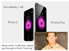 """What's making the news versus what's not:  Apple  I-Phone 6, I Watch, versus Military Mexico.  Too busy with """"status"""" and """"materialisitc"""" upgrades.  Meanwhile this kid is stuck in Mexico and where's the news?"""