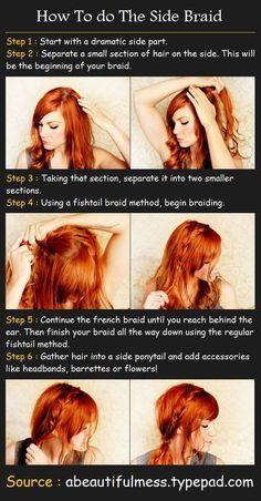 The Side Braid   Beauty Tutorials