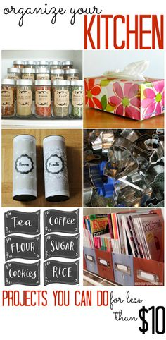 Kitchen Organization Projects (that you can do for less than $10!) - All Cheap Crafts