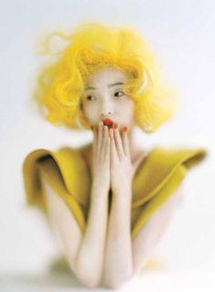 Xiao Wen Ju photographed by Tim Walker for Vogue, September 2012.