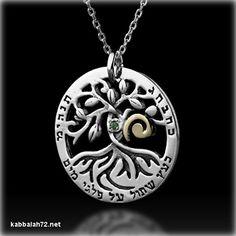 Kabbalah Jewelry - Circle of Life Tree Kabbalah Necklace