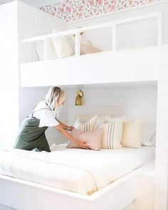 ➤40 Cozy And Functional Built In Bunk Beds Ideas For Kids You Have To See #kidsbedroom #nurseryroom #ideasforkids #bunkbeds | Glebemines.com