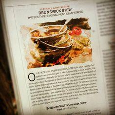 Southern Soul BBQ's Brunswick Stew recipe in Garden & Gun Magazine.  #BrunswickStew #Recipes #SouthernSoulBBQ #StSimons