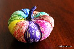 Colorful Mini Pumpkin Craft for Kids - Thanksgiving and Fall