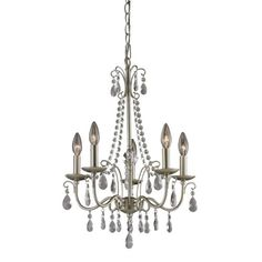 Find it at the Foundary - 24 in. Antique Silver 5 Light Chandelier