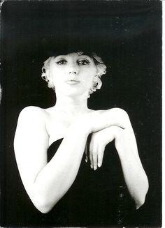 Marilyn Monroe - The Black Sitting by Milton Greene.