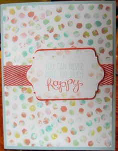 card made with Happy Dots Stamp carved by Jayne Grenier
